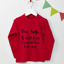 Personalised Dear Santa Red Christmas Jumper