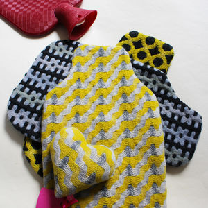 Handwoven Hot Water Bottle Cover And Lavender Heart