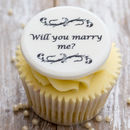 Personalised 'Will You Marry Me?' Cupcake Toppers