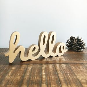 Hello Standing Word Sign