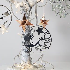 Silver Reindeer Decoration