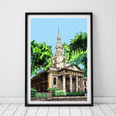 St Leonard's Church, Shoreditch Illustration Print