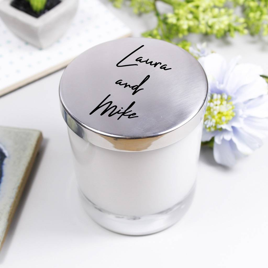 luxury scented candle with lid for couples by olivia morgan ltd ...