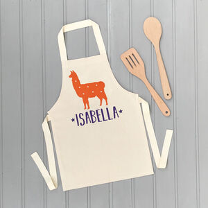Personalised Childrens Llama Apron