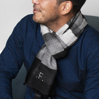 Personalised Men's Cashmere Blend Scarf