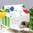 Grow Your Own Cocktail Garden And Gourmet Flower Kit