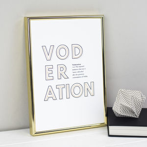 Witty Vodka Definition Print