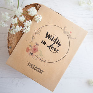 10 'Wildly In Love' Personalised Seed Packet Favours - wedding favours