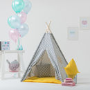Kids Teepee Tent Set Grey