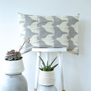 House Of Rym Bird Pattern Woven Jacquard Cushion Cover - living room