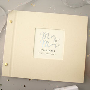 Personalised Mr And Mrs Wedding Photo Album - albums & guest books