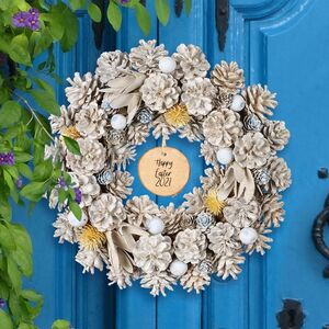 Personalised Hand Crafted Spring Door Wreath