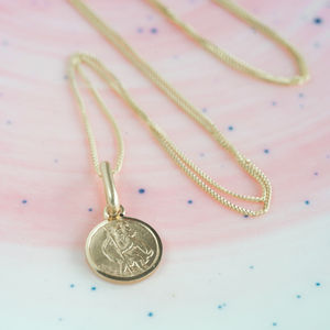 Tiny St Christopher Christening Necklace - children's jewellery