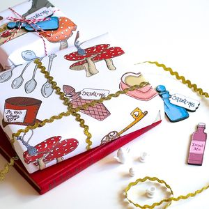 Alice In Wonderland Wrapping Paper Gift Set - winter sale
