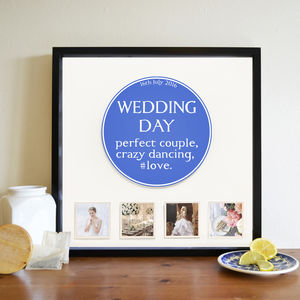 Personalised Occasion Blue Plaque 3D Box Frame - what's new