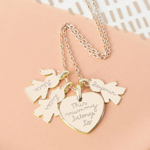Personalised Family Charm Necklace - gifts for mothers