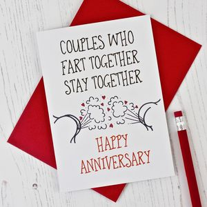 Cheeky Anniversary Card - shop by occasion