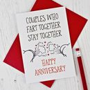 Cheeky Anniversary Card