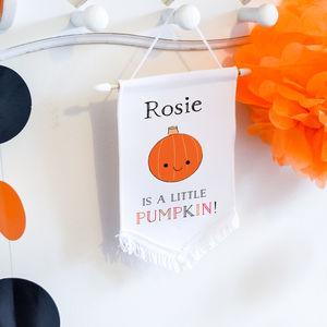 Halloween Hanging Wall Banner 'Little pumpkin' - new in prints & art