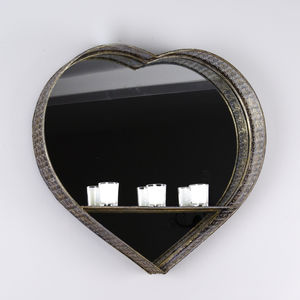 Lacework Heart Mirror