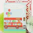 Personalised Animal Bus Card