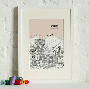Personalised Derby Print - maps & locations