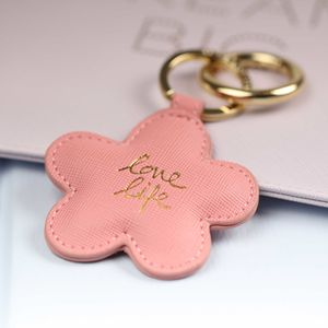 'Love Life' Pale Pink Daisy Key Ring - millennial pink