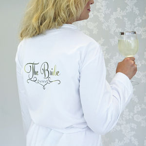Personalised Wedding Dressing Gown For The Bride - bridal lingerie