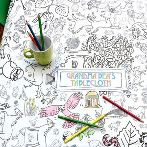 Colour In Poster Tablecloth Countryside *Personalise It - children's parties