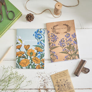 Garden Notebook Set With Seeds