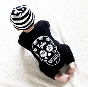 Sugar Skull Baby Romper - clothing
