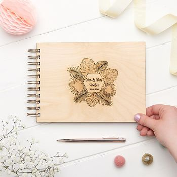 Tropical Leaf Wedding Guest Book