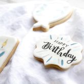 Personalised Birthday Blue Sugar Cookies Set - food & drink