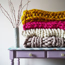 Knit Your Own Giant Blanket Kit 30+ Colours