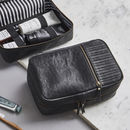 Leather Wash Bag 'The Executive'
