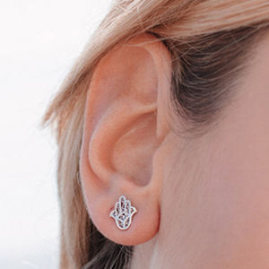 Hamsa Stud Earrings