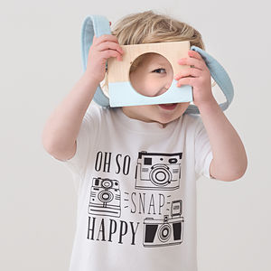 'Snap Happy' Camera T Shirt