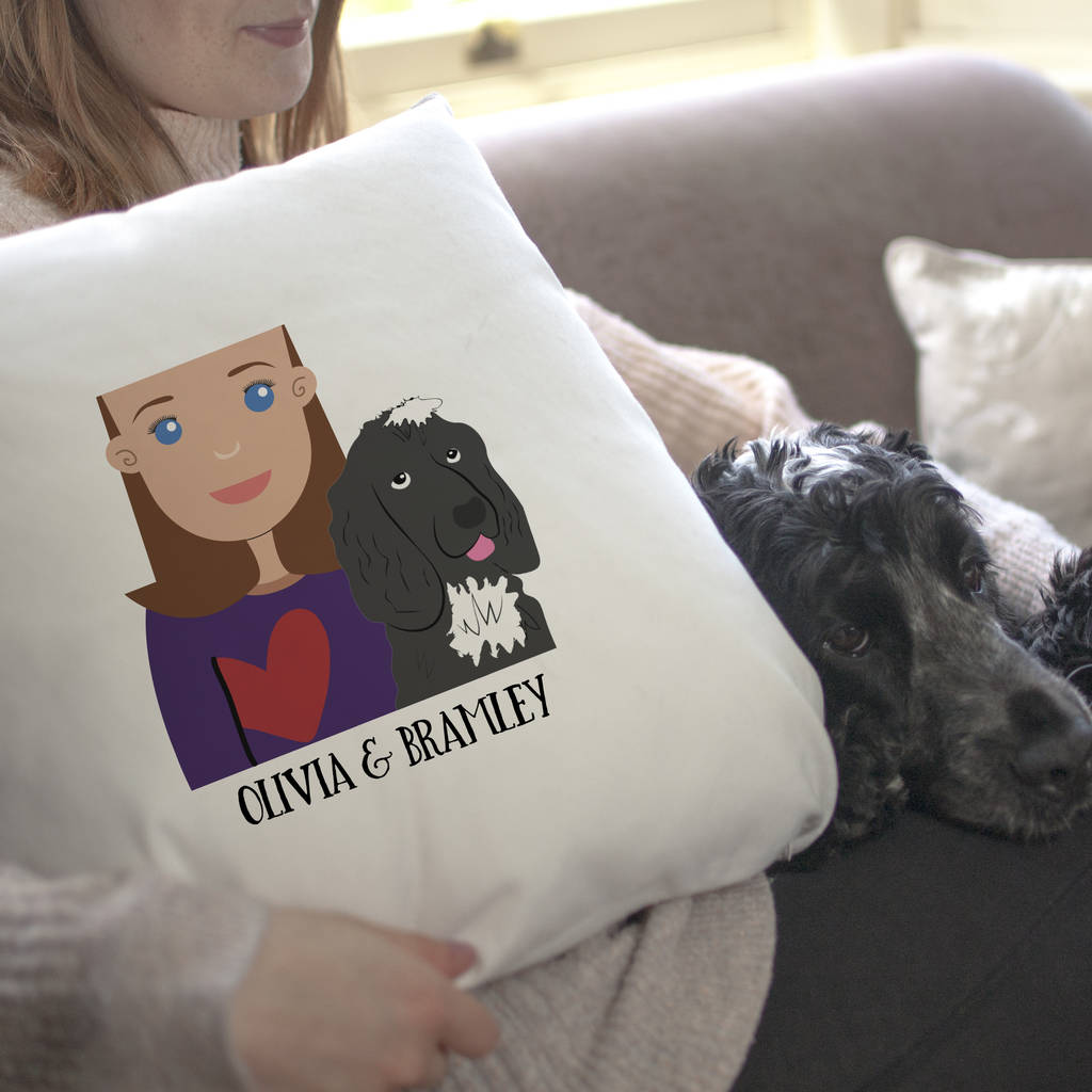Personalised ALSATION Dog Puppy Cushion Cover Gift Him Her Birthday Mum Dad