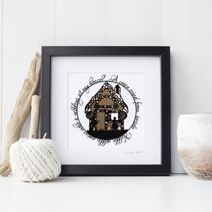 Hansel And Gretel Papercut Print