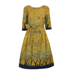 Beatrice Mustard Forest - dresses