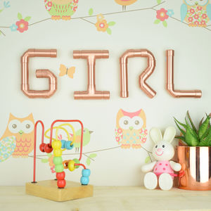 'Girl' Copper Letters