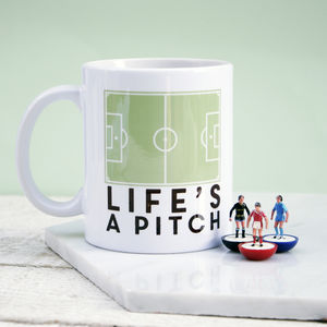 Life's A Pitch Mug - gifts for fathers
