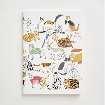 A6 Crafty Cats Notebook