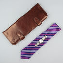 Luxury Leather Tie Case For Men. 'The Tivoli'