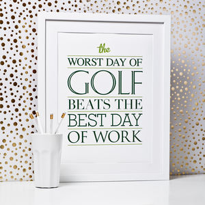 Golf Quote Print - what's new