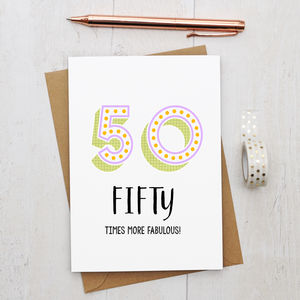 50th Birthday Card - what's new