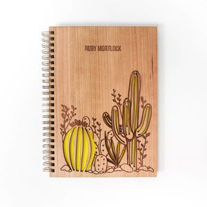 Personalised Cactus Notebook - gifts for teenagers
