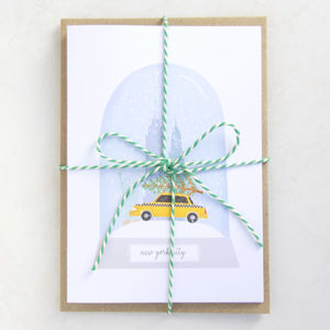Pack Of Six City Snow Globe Christmas Cards - cards & wrap