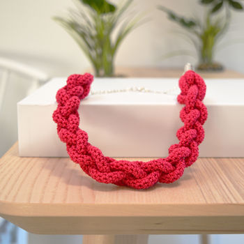 Braided Necklace Crochet Kit