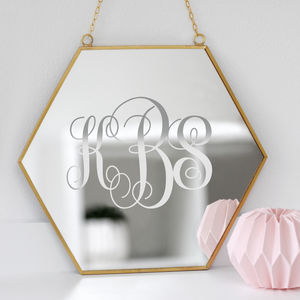 Personalised Couples Monogram Mirror - mirrors